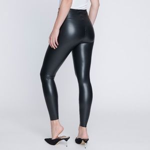 NWT Seven7 Solid Black Faux Leather Leggings